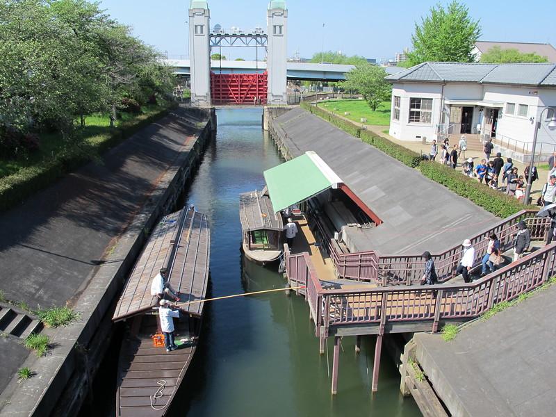 The Misukomon harbor and lock gate