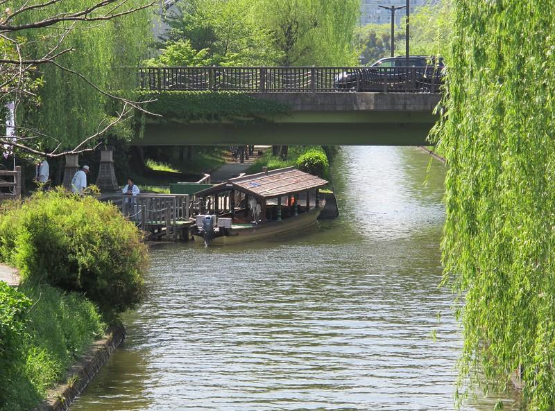 The boat launch for Jikkokubune canal cruises