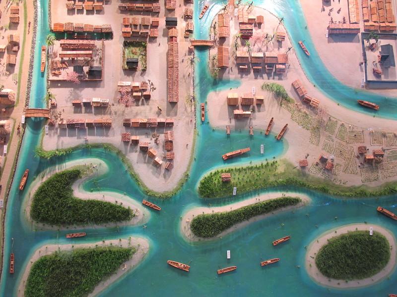 A diorama of Fushimi's waterways