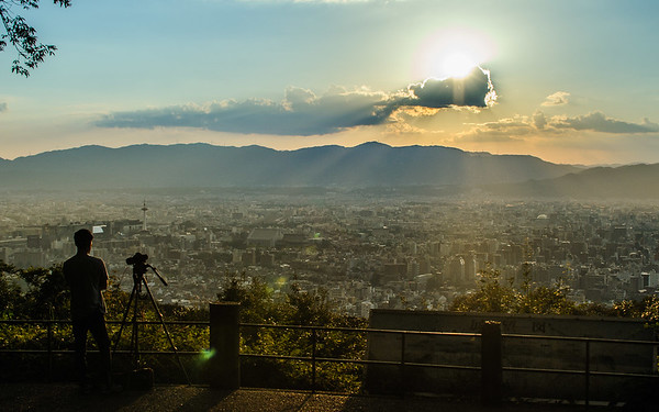An ancient city surrounded by mountains image copyright Jeffrey Friedl