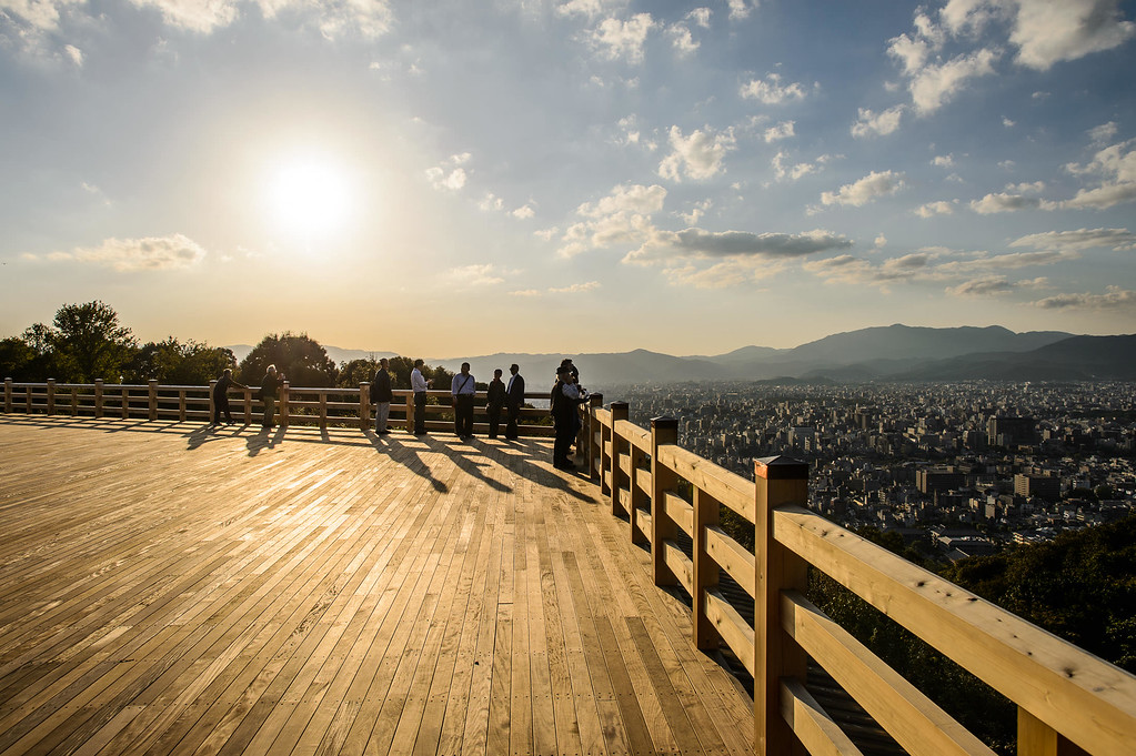 View from Shogunzuka viewpoint image copyright Jeffrey Friedl