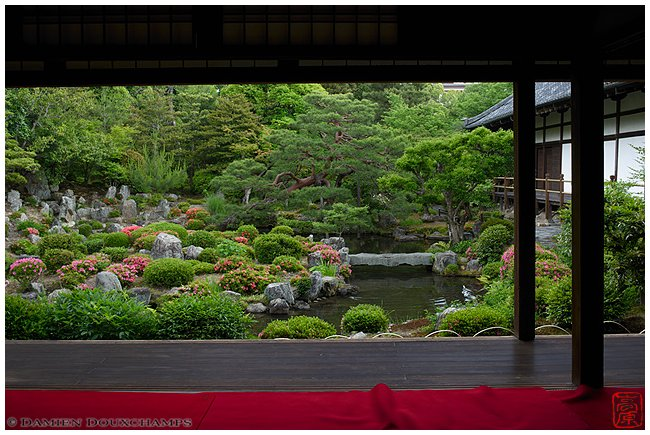 Toji-in Temple garden in spring image copyright Damien Douxchamps