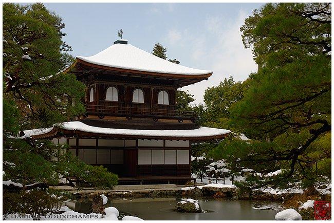 Ginkaku-ji Temple main hall under snow image copyright Damien Douxchamps