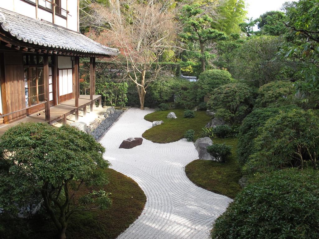 The rock garden at Daishin-in